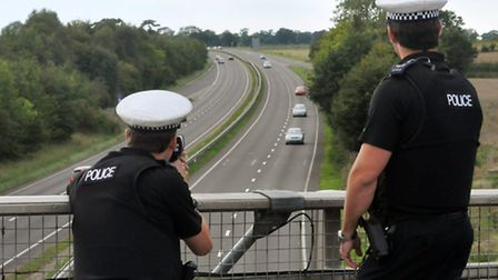 Police clocked the driver doing 130mph