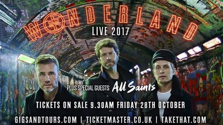 Take That are coming to Norwich in 2017 (Picture: Take That/ YouTube)