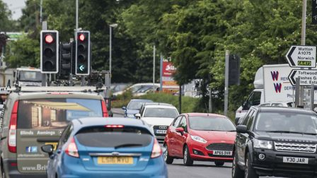 A typically busy scene at Tavern Lane in Dereham. Picture: ARCHANT.