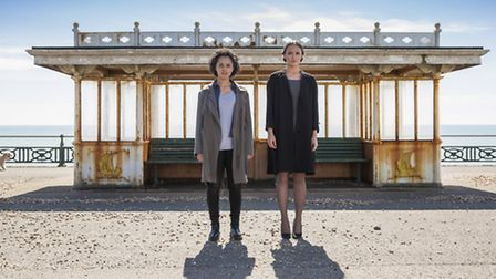 Karla Crome and Laura Haddock as Nancy and Hayley in ITV's detective thriller The Level. Picture: CO
