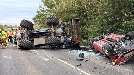 RTC on the A10 at Hilgay. Picture: Supplied