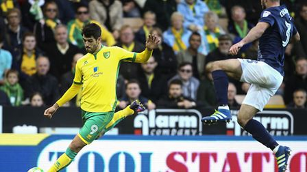 Striker Nelson Oliveira could get another chance to impress for Norwich City tonight, after featurin