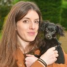 Raisin the dog who needs heart surgery. Pictured with owner Claire Miller. Picture: Antony Kelly