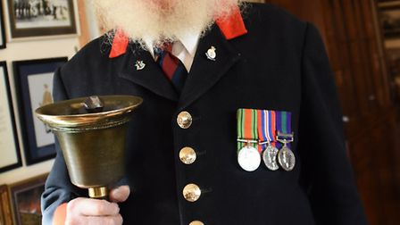 John Barber, 90, who is retiring as Southwold Town Crier after 40 years. Picture: DENISE BRADLEY