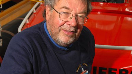 Former lifeboat man John Cannell who has written book on the history of Caister lifeboat station and
