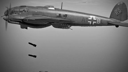 CGI of the German He 111 aircraft. Credited to Kim Collinson