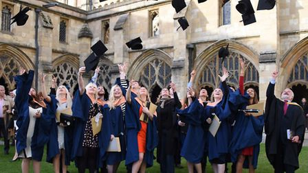 The hospitality, events and tourism students celebrate at the City College Norwich graduation ceremo