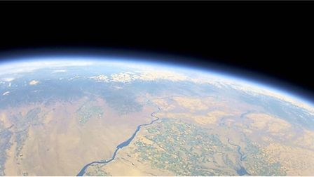 The view from space taken by a Raspberry Pi computer which will be used in the Space Race. Photo: Ga