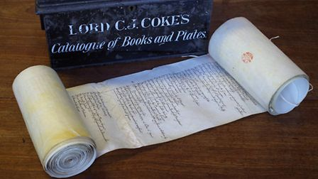 Sir Edward's 1640s catalogue of his library on a parchment list more than 12 metres long. Many of th