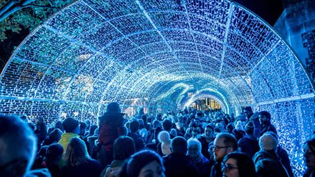 The 60-metre long tunnel of light on Hay Hill. Picture: Matthew Usher.