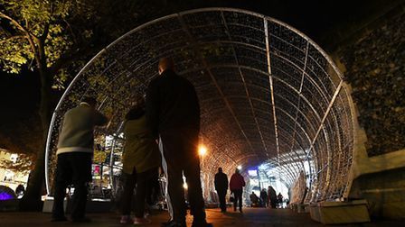Norwich Tunnel of Light in dark while it's repaired.Picture: ANTONY KELLY