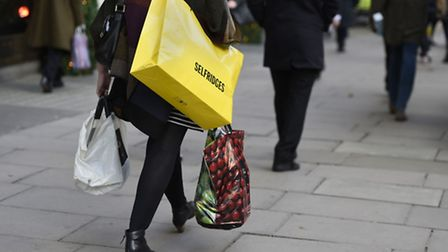 A shopper on Oxford Street in London as the rate of Consumer Price Index inflation fell to 0.9% in O