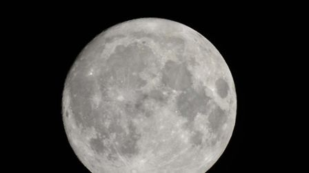 A glimpse of the stunning Supermoon. Photo: Nigel Pickover