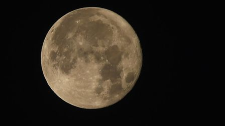 A super sight of a Supermoon taken from my window in Hemblington at 3.47am. Photo: Brian Shreeve