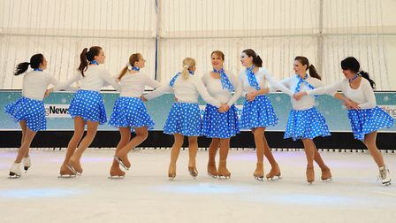 Performances from skating enthusiasts to open Norwich Ice Rink at Castle Mall Gardens. Picture: DENI
