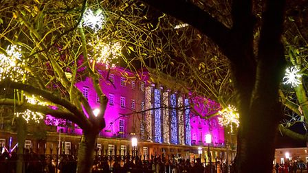 At last year's Norwich Christmas lights switch on. Picture: ANTONY KELLY