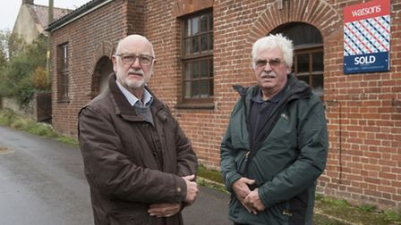 Knapton Parish Council vice chairman Alan Young (left) and fellow councillor Andrew Claydon outside