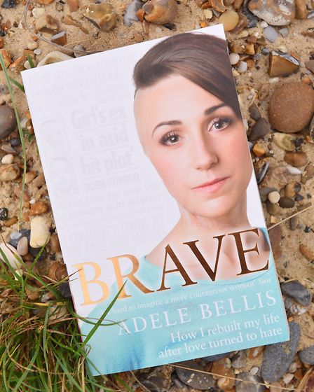 Adele Bellis' autobiography, called Brave. Picture: JAMES BASS