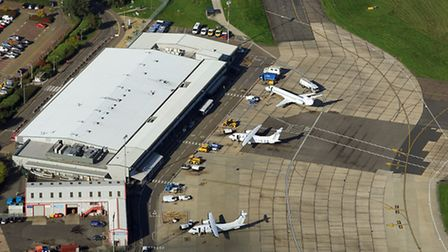Aerial view of Norwich Airport, Oct 2015. Picture: Mike Page