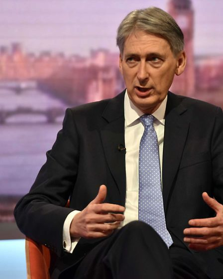 Chancellor Philip Hammond appearing on the BBC One current affairs programme, The Andrew Marr Show.