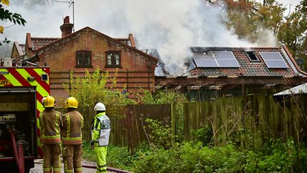 House fire at Burgh Next Aylsham.Picture: ANTONY KELLY