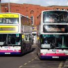 First buses at work on Castle Meadow, NorwichPhoto by Simon Finlay.