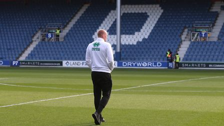 John Ruddy looks out over Loftus Road ahead of kick-off on Saturday. Picture by Paul Chesterton/Focu