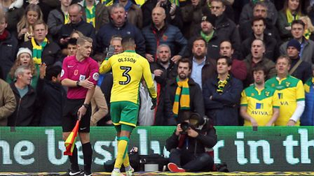 Norwich City defender Martin Olsson is back in the mix ahead of the Championship trip to Barnsley. P