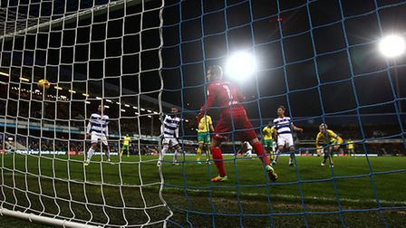 Steven Naismith glanced home Jacob Murphy's cross for Norwich City's late goal. Picture by Paul Ches