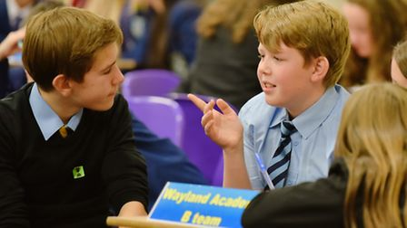 Students from Norfolk and Suffolk schools gather at Thetford Academy to take part in the regional he