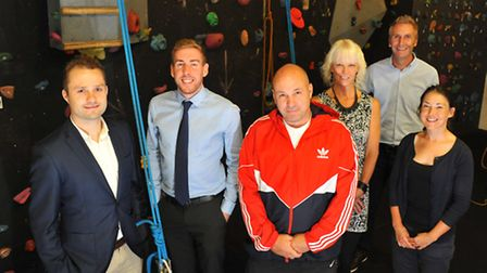 Launching the Norfolk Sports Awards at OPEN(l to r) Active Norfolk director Ben Jones, Luke Powell f
