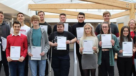 Students from East Norfolk Sixth Form College who have received a scholarship from the London Instit