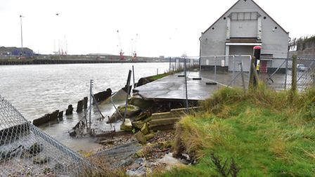 The old Gorleston Ice House on Riverside road is in danger due to crumbling sea defences.PHOTO: Nick