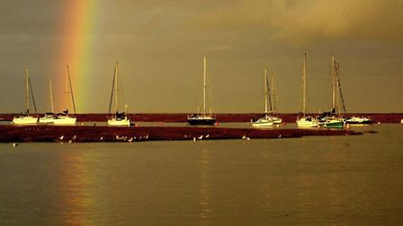 Stunning rainbow at Wells by @the_old_bakery