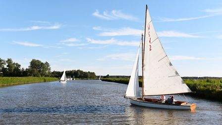 Sailing in the Broads. Picture: James Bass