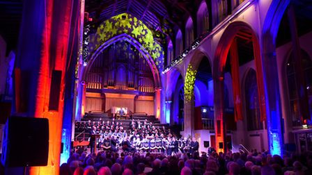 The 2015 EDP Festival of Carols at St Andrew's Hall, Norwich. PHOTO BY SIMON FINLAY