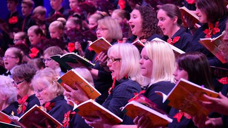 The 2015 EDP Festival of Carols at St Andrew's Hall, Norwich. The Festival Choir in full voice.PHOTO