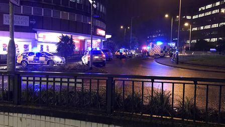 St Stephens roundabout in Norwich following the incident. Photo: Archant