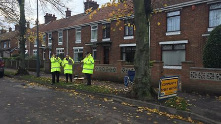 The community speedwatch team in Keys Avenue, Great Yarmouth. Picture: Twitter/GY Police