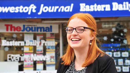 Polly Grice when she worked at The Lowestoft Journal and the Eastern Daily Press.