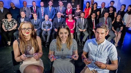 Scenes from the Norfolk Sports Awards 2016 held at Open in Norwich - all the night's winners. Pictur