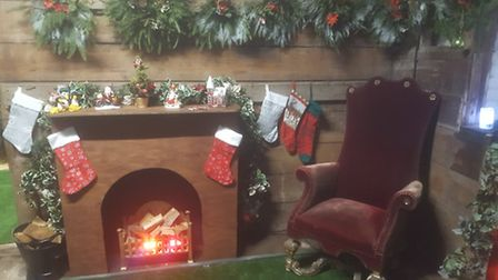 Santa's Grotto in the King's Garden Coach House in Thetford, which will be open as part of the town
