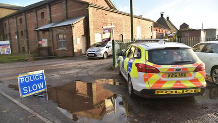 Emergency services attend an address off Norwich Road in Dereham after reports of a chemical spill.