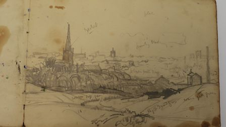 Arnesby-Brown sketch, a View of Norwich. Picture: ANDY NEWMAN PR