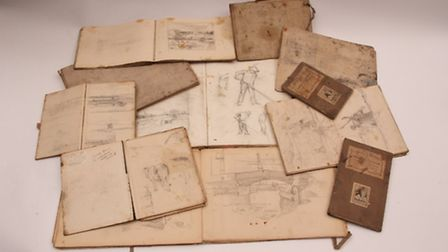 Arnesby-Brown sketchbooks. Picture: ANDY NEWMAN PR