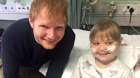 Nine-year-old Melody Driscoll, who was visited by Ed Sheeran in hospital. Photo by Melody in Mind/PA