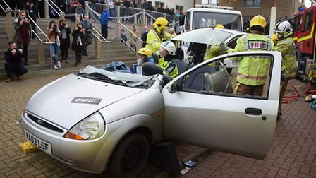 The launch of the Police and Crime Commissioner's road safety scheme Impact at Norwich City College.