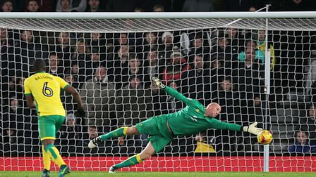 Norwich City keeper John Ruddy is unable to keep out Bradley Johnson's winner. Picture by Paul Chest