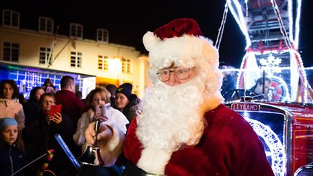 Father Christmas was the VIP for the Diss christmas light switch on