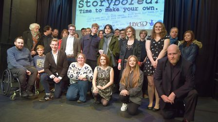 Participants of the Storybored project ahead of a premiere of each of the films at Pakefield's Seagu